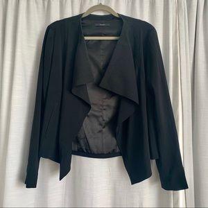 Tahari open front draped blazer